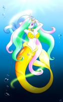 : C : Mermaid Celestia by BluDraconoid