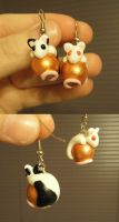 rat earrings by aachi-chan