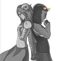 Aradia + Equius by Shattered-Earth