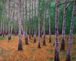 Expressionistic Birch Forest by Landscapist