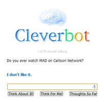 Cleverbot doesn't like it. :( by LUVKitty13