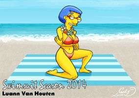 Swimsuit Season 2014: Luann Van Houten by Chesty-Larue-Art