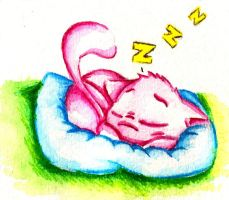 Sleepy Mew by Toonfreak
