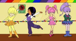 Color Kid Ballerinas by RainbowBriteUk