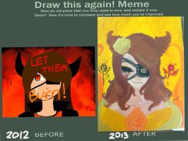 Before and after meme by WHATWhyomg
