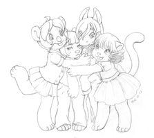 Group Hug by katiesketch