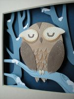 Wintry Owl by tracyblank
