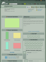 Club Userpage Mockup by Davecheesefish