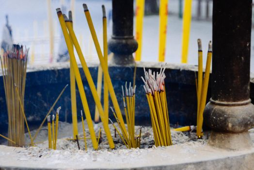 Incense at Po Lin Monastery by albertsphotos
