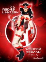 Red Lantern Wonder Woman Custom by Chalana87