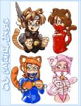 080915 OC catgirl busts by CommanderRab
