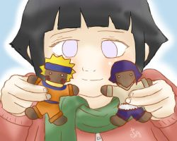 Hinata and her Gingerbread Naruto by DogWolf129