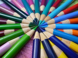 Pencil Crayon Circle by CharleneYH