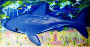 blue shark by gibsart