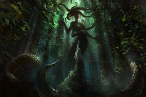 Gorgon forest by Ghostbrush