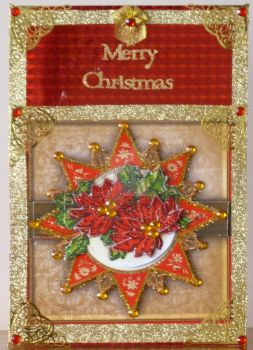 Victorian Style Card in Red and Gold by blackrose1959
