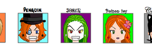Batman Villains Anime Mugshots by MorganCluelessGoat