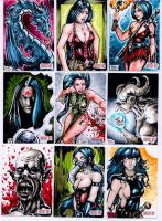 Unstoppable Cards Fantasy sketch cards page 2 by dsilvabarred