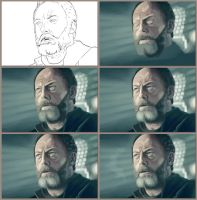 Davos Seaworth in fiew steps by Lukecfc