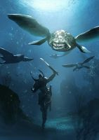 Underwater fighting by Magnusss