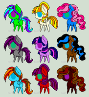 Pony Adopts by Queen-Sombrea