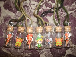 Zelda Sprite Bottle Charms by ChozoBoy