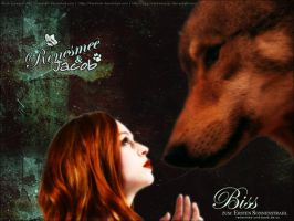 Renesmee and Jacob - Wallpaper by chaela-chan