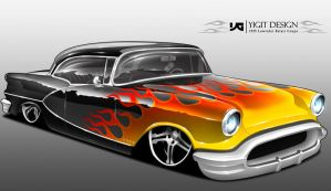 1955 Lowrider Belair Coupe by ygt-design