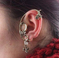 Silver Bronze Ear Cuff by LypticDesigns