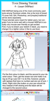Toon Drawing Tutorial 4 - MSPaint Lineart by LightAnimaux