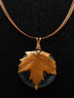 Copper Leaf Fused Glass by FusedElegance
