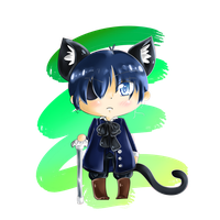 Neko! Ciel chibi by I-AM-M-O-I