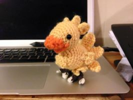 Finished Crocheted Chocobo by TiredOrangeCat