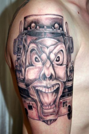 Truck Mask Joker Tattoo Joker Tattoo