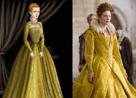 Queen Elizabeth Gold Dress by msbrit90