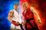 Ryu and Ken - Street Fighter: Assassin's Fist by reyindbz
