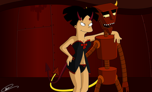 Futurama - Amy and the Robot Devil by Spider-Matt