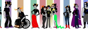 Homestuck line up by Silk-Ward