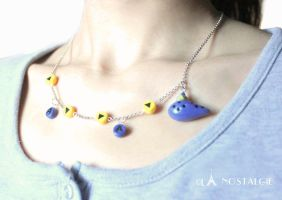 Zelda Song of time handmade necklace by LaNostalgie05