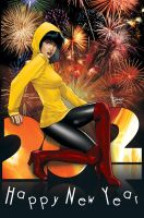 Charlie wishes you Happy 2012 by DaggerPoint