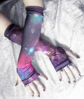 Space Cadet Arm Warmers by ZenAndCoffee