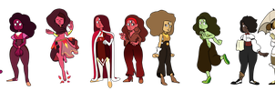 All kinds of Garnet by MsMannie