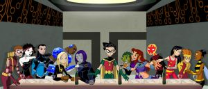 Teen Titans Last Supper [Full] by Glee-chan