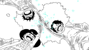 On brotherhood! - Luffy, Ace and Sabo by UsagiTail