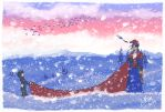 Across the snow by favri