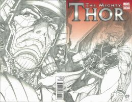 Thor 1 Sketch Variant by Ace-Continuado