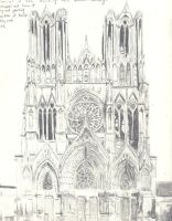 Reims Cathedral by Reflection-Of-Roses