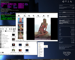 Fluxbox Desktop Conky 1 by billgoldbergmania