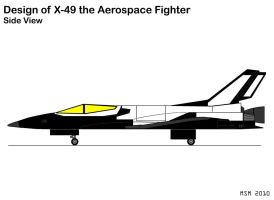 X-49 Side View Design by RedSpider2008