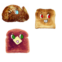 BTT: Bad Toast Trio by NanaTheFurret